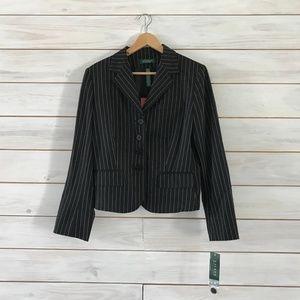 Lauren Ralph Lauren Petite Pinstripe Jacket
